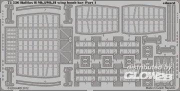Halifax B MK.I/Mk.II wing - Bomb bay [Revell] · EDU 72536 ·  Eduard · 1:72