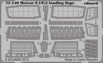 Meteor F.1/F.3 - Landing flaps [Cyber Hobby] · EDU 72540 ·  Eduard · 1:72