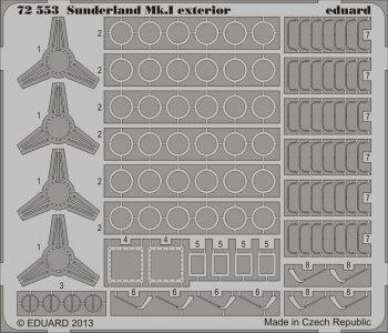 Sunderland Mk.I - Exterior [Italeri] · EDU 72553 ·  Eduard · 1:72