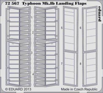 Typhoon Mk.IB - Landing flaps [Airfix] · EDU 72567 ·  Eduard · 1:72