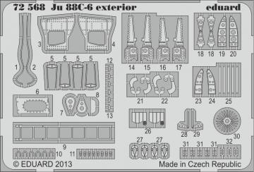 Junkers Ju 88 C-6 - Exterior [Revell] · EDU 72568 ·  Eduard · 1:72