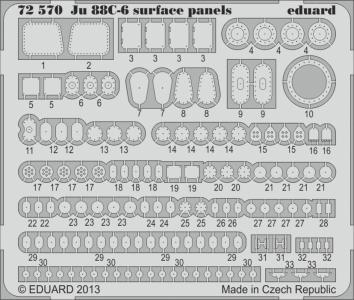 Junkers Ju 88 C-6 - Surface panels S.A. [Revell] · EDU 72570 ·  Eduard · 1:72