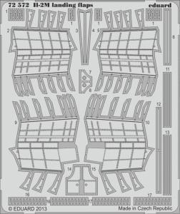 II-2M - Landing flaps [Academy] · EDU 72572 ·  Eduard · 1:72