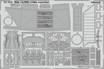 MiG-15/MiG-15bis - Exterior [Eduard] · EDU 72575 ·  Eduard · 1:72