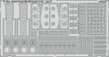 Sunderland Mk.III - Bomb racks [Italeri] · EDU 72583 ·  Eduard · 1:72