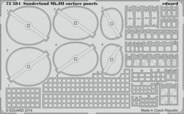 Sundeland Mk.III - Surface panels [Italeri] · EDU 72584 ·  Eduard · 1:72