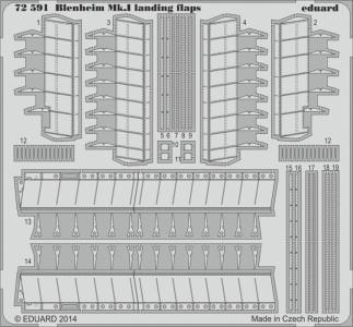 Bristol Blenheim Mkl - Landing flaps [Aifrix] · EDU 72591 ·  Eduard · 1:72