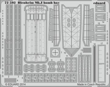Bristol Blenheim Mkl - Bomb bay [Aifrix] · EDU 72592 ·  Eduard · 1:72