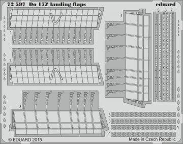 Dornier Do17Z - Landing flaps [Airfix] · EDU 72597 ·  Eduard · 1:72