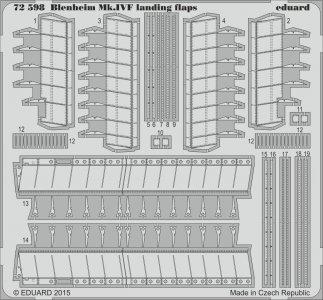 Bristol Blenheim Mk.IVF - Landing flaps [Airfix] · EDU 72598 ·  Eduard · 1:72