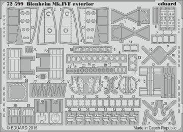 Bristol Blenheim Mk.IVF - Exterior [Airfix] · EDU 72599 ·  Eduard · 1:72