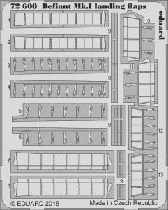 Boulton Paul Defiant Mk.I - Landing flaps [Airfix] · EDU 72600 ·  Eduard · 1:72