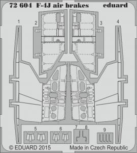 F-4J VF-84 Jolly Rogers - Air brakes [Academy] · EDU 72604 ·  Eduard · 1:72