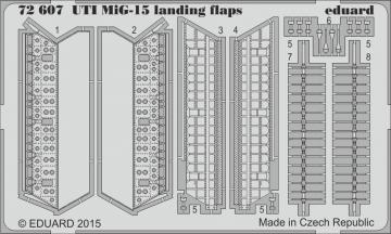 UTI MiG-15 - Landing flaps [Eduard] · EDU 72607 ·  Eduard · 1:72