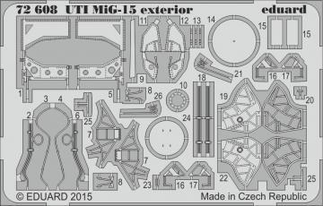 UTI MiG-15 - Exterior [Eduard] · EDU 72608 ·  Eduard · 1:72