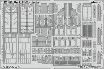 Heinkel He 111 P-2 - Exterior [Airfix] · EDU 72609 ·  Eduard · 1:72