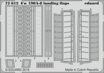 Focke-Wulf Fw 190 A-8 - Landing flaps [Eduard] · EDU 72612 ·  Eduard · 1:72