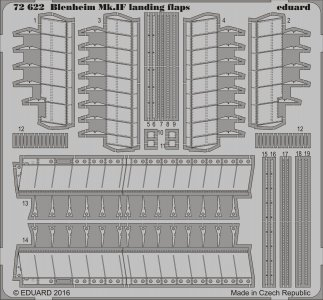 Blenheim Mk.IF - Landing flaps [Airfix] · EDU 72622 ·  Eduard · 1:72