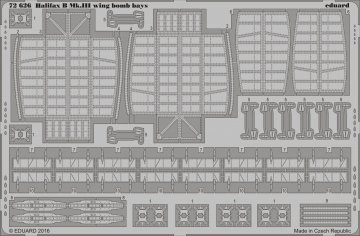 Handley Page Halifax B Mk.III - Wing - Bomb bays [Revell] · EDU 72626 ·  Eduard · 1:72