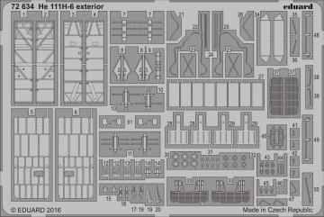 Heinkel He 111 H-6 - Exterior [Airfix] · EDU 72634 ·  Eduard · 1:72