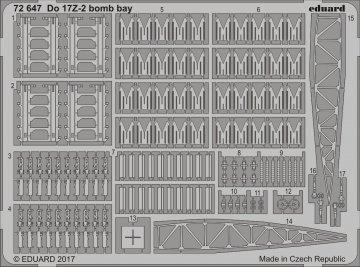 Dornier DO 17 Z-2 - Bomb bay [ICM] · EDU 72647 ·  Eduard · 1:72