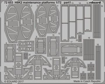 Kawanishi H8K2 Emily - Maintenance platforms [Hasegawa] · EDU 72653 ·  Eduard · 1:72