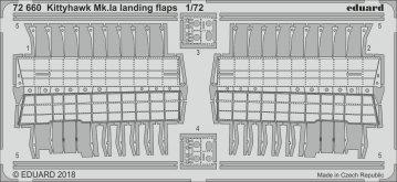Kittyhawk Mk.IA - Landing flaps [Special Hobby] · EDU 72660 ·  Eduard · 1:72