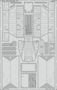 USAF B-2A Spirit Stealth Bomber - Undercarriage [Modelcollect] · EDU 72664 ·  Eduard · 1:72
