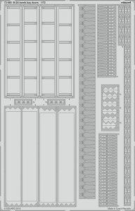 USAF B-2A Spirit Stealth Bomber - Bomb Bay door [Modelcollect] · EDU 72665 ·  Eduard · 1:72