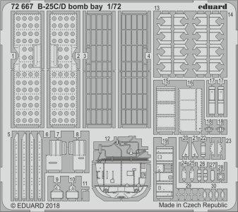North American B25C/D Mitchell - Bomb bay [Airfix] · EDU 72667 ·  Eduard · 1:72