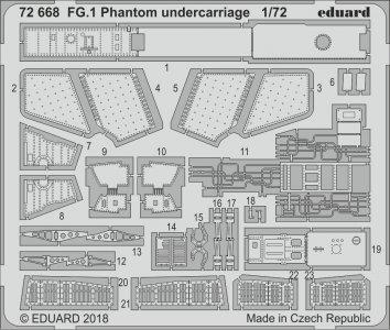 FG.1 Phantom - Undercarriage [Airfix] · EDU 72668 ·  Eduard · 1:72
