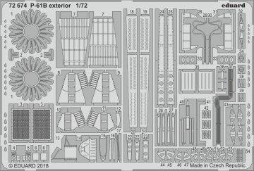 US P-61B Black Widow - Exterior [HobbyBoss] · EDU 72674 ·  Eduard · 1:72