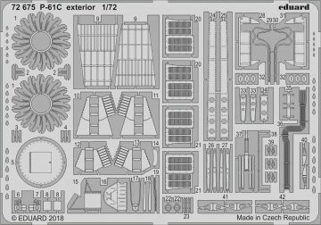 US P-61C Black Widow - Exterior [HobbyBoss] · EDU 72675 ·  Eduard · 1:72