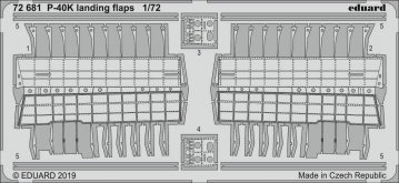 P-40K Warhawk - Landing flaps [Special Hobby] · EDU 72681 ·  Eduard · 1:72