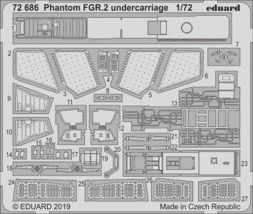 McDonnell Douglas FGR2 Phantom - Undercarriage [Airfix] · EDU 72686 ·  Eduard · 1:72