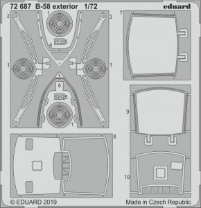 B-58  Hustler - Exterior [Italeri] · EDU 72687 ·  Eduard · 1:72