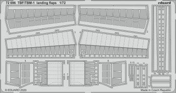 TBF/TBM-1 Avenger - Landing flaps [Hasegawa] · EDU 72696 ·  Eduard · 1:72