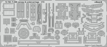 F-35B Lightning II - Canopy & undercarriage [Italeri] · EDU 72700 ·  Eduard · 1:72