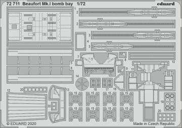 Beaufort Mk.I - Bomb bay [Airfix] · EDU 72711 ·  Eduard · 1:72