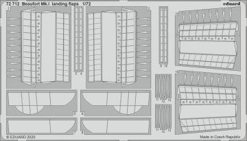 Beaufort Mk.I - Landing flaps [Airfix] · EDU 72712 ·  Eduard · 1:72