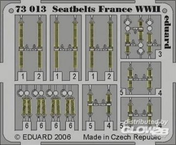Seatbelts France WWII · EDU 73013 ·  Eduard · 1:72