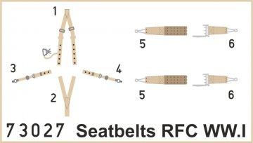 Seatbelts RFC WWI Super Fabric · EDU 73027 ·  Eduard · 1:72