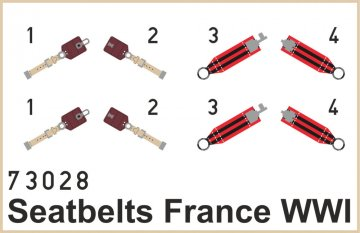 Seatbelts France WWI Super Fabric · EDU 73028 ·  Eduard · 1:72