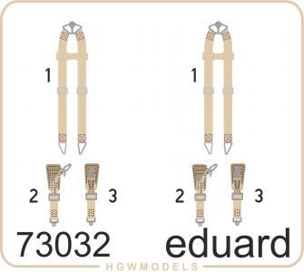 Seatbelts Luftwaffe WWII bombers SUPERFABRIC · EDU 73032 ·  Eduard · 1:72