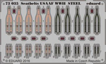 Seatbelts USAAF WWII STEEL · EDU 73035 ·  Eduard · 1:72
