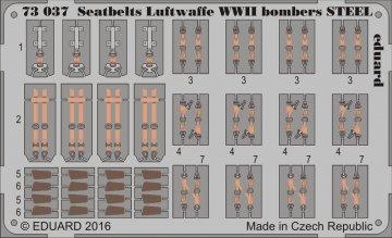 Seatbelts Luftwaffe WWII bombers STEEL · EDU 73037 ·  Eduard · 1:72
