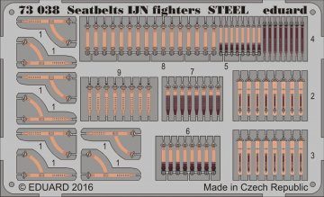 Seatbelts IJN fighters STEEL · EDU 73038 ·  Eduard · 1:72