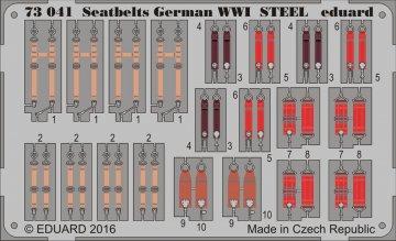 Seatbelts German WWI STEEL · EDU 73041 ·  Eduard · 1:72