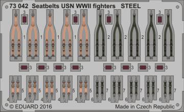 Seatbelts USN WWII fighters STEEL · EDU 73042 ·  Eduard · 1:72
