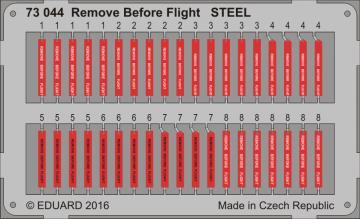 Remove Before Flight STEEL · EDU 73044 ·  Eduard · 1:72